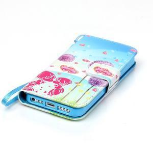 Peňaženkové puzdro pre mobil iPhone SE / 5s / 5 - púpavy - 5