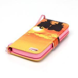 Peňaženkové puzdro pre mobil iPhone SE / 5s / 5 - zapadajúce slnko - 5