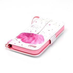 Peňaženkové puzdro pre mobil iPhone SE / 5s / 5 - makový kvet - 5