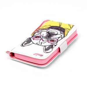 Peňaženkové puzdro pre mobil iPhone SE / 5s / 5 - buldog - 5