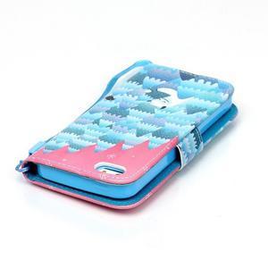 Peňaženkové puzdro pre mobil iPhone SE / 5s / 5 - snežný muž - 5