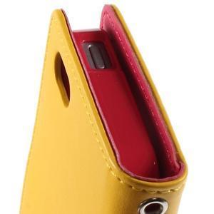 Rich diary PU kožené pouzdro na iPhone SE / 5s / 5 - žluté - 5