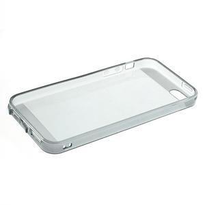 Gelový transparentní obal na iPhone SE / 5s / 5 - šedý - 5