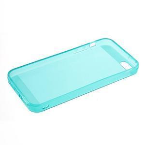 gélový Transparentný obal pre iPhone SE / 5s / 5 - modrozelený - 5