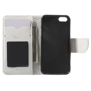 Cross PU kožené puzdro pre iPhone SE / 5s / 5 - biele - 5