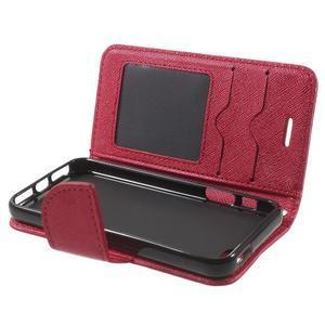 Cross PU kožené pouzdro na iPhone SE / 5s / 5 - červené - 5