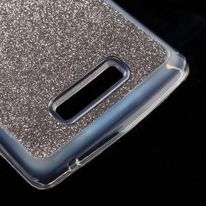 Povrchove trblietavý gélový obal pre mobil Lenovo A2010 - šedý - 5