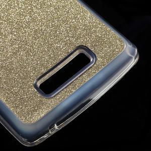 Povrchove trblietavý gélový obal pre mobil Lenovo A2010 - zlatý - 5