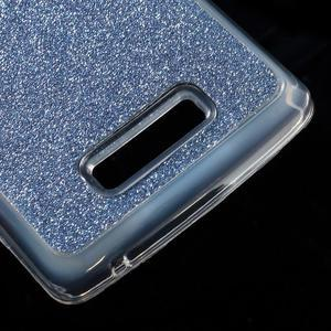 Povrchově třpytivý gelový obal na mobil Lenovo A2010 - tmavěmodrý - 5