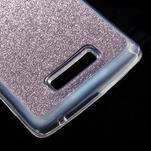Povrchově třpytivý gelový obal na mobil Lenovo A2010 - fialový - 5/5
