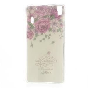 Softy gelový obal na mobil Lenovo A7000 / K3 Note - zahradní růže - 5