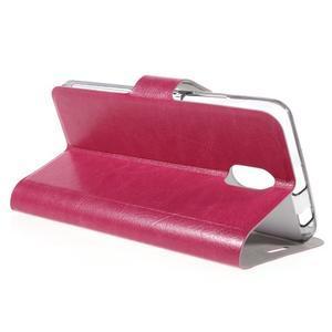 Horse peňaženkové puzdro pre Lenovo Vibe P1m - rose - 5