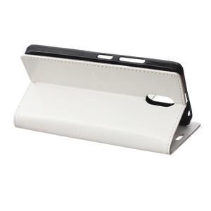 GX koženkové peňaženkové na mobil Lenovo Vibe P1m - biele - 5