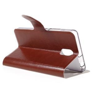 Horse peňaženkové puzdro pre Lenovo Vibe P1m - hnedé - 5