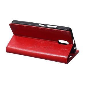 GX koženkové peňaženkové na mobil Lenovo Vibe P1m - červené - 5