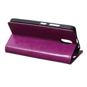 GX koženkové peňaženkové na mobil Lenovo Vibe P1m - fialové - 5
