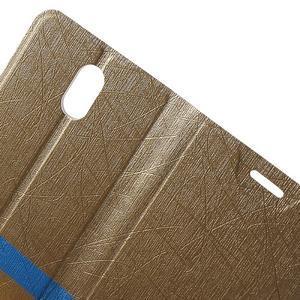 Klopové puzdro pre mobil Lenovo Vibe P1m - zlaté - 5