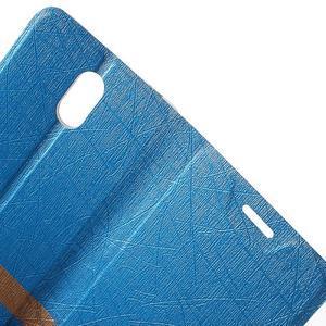 Klopové puzdro pre mobil Lenovo Vibe P1m - svetlo modré - 5