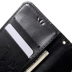 Buttefly PU kožené pouzdro na mobil LG Leon - černé - 5