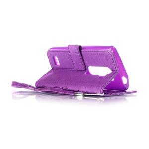 Magicfly puzdro pre mobil LG Leon - fialové - 5