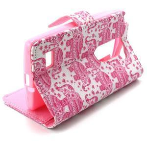 Style peňaženkové puzdro pre LG Leon - sloni - 5