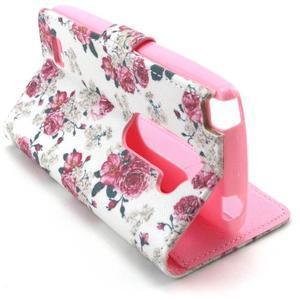 Style peňaženkové puzdro pre LG Leon - kvetiny - 5