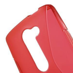 S-line gélový obal pre mobil LG Leon - červený - 5