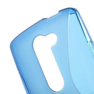 S-line gélový obal pre mobil LG Leon - modrý - 5