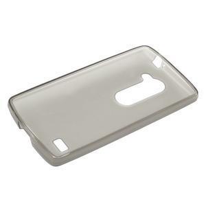 Matný gelový obal na mobil LG Leon - šedý - 5