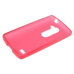 Matný gelový obal na mobil LG Leon - červený - 5