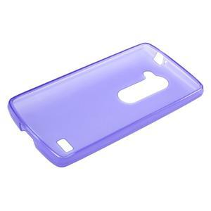 Matný gélový obal pre mobil LG Leon - fialový - 5