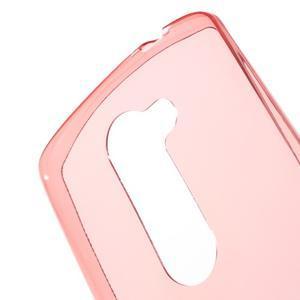 Ultratenký gelový obal na mobil LG Leon - červený - 5
