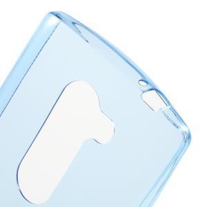 Ultratenký gélový obal pre mobil LG Leon - modrý - 5