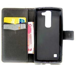 Peňaženkové PU kožené puzdro pre LG Leon - láska na bicykli - 5