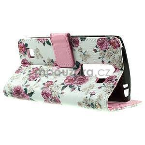 Peňaženkové puzdro pre LG Spirit - ruže - 5