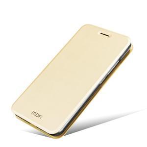 Vintage PU kožené puzdro s kovovou výstuhou pre Meizu MX5 -  zlaté - 5
