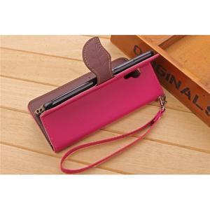 Knížkové PU kožené pouzdro na mobil Meizu MX5 - rose - 5