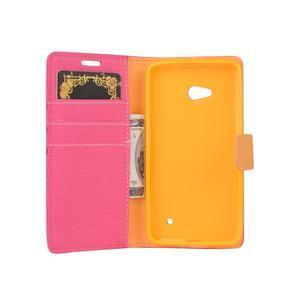 Wally koženkové pouzdro na mobil Microsoft Lumia 640 - rose - 5