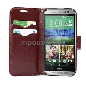 Kvetinové peňaženkové púzdro na HTC One Mini 2 -  modré - 5