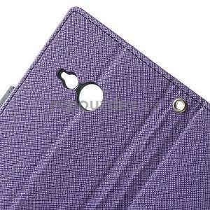 Style peňaženkové puzdro HTC One Mini 2 - fialové - 5