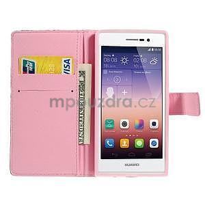 Obrazové peňaženkové puzdro na Huawei Ascend P7 - strom - 5