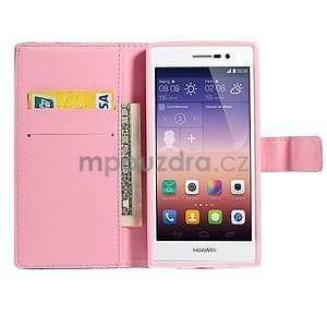 Obrazové peňaženkové puzdro na Huawei Ascend P7 - kytica - 5