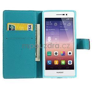 Obrazové peňaženkové puzdro na Huawei Ascend P7 - oceán - 5