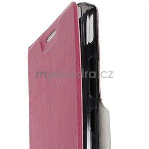 Hardy peňaženkové puzdro na Lenovo A7000 a Lenovo K3 Note - rose - 5