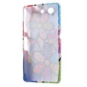 Gélový obal pre Sony Xperia Z3 mini - kytky - 5