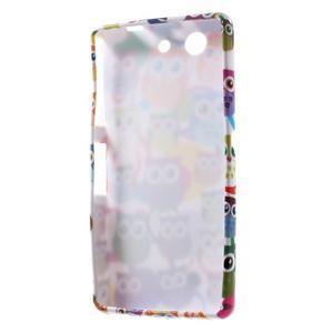 Gélový obal pre Sony Xperia Z3 mini - sovičky - 5