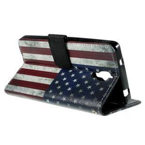 Cross peňaženkové puzdro na Xiaomi Mi4 - US vlajka - 5