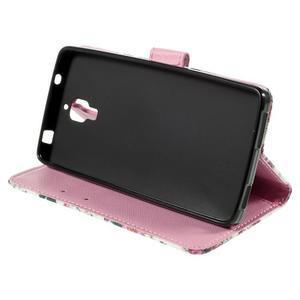 Cross peňaženkové puzdro na Xiaomi Mi4 - kytičky - 5