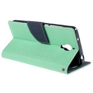 Mr. Fancy peňaženkové puzdro na Xiaomi Mi4 - azurové - 5