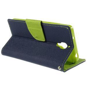 Mr. Fancy peňaženkové puzdro na Xiaomi Mi4 - tmavo modré - 5